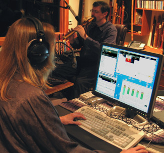 Vera in the studio